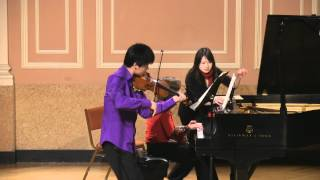 Xiang (Angelo) Yu and Dina Vainshtein plays Debussy Violin Sonata (filmed by Simon)