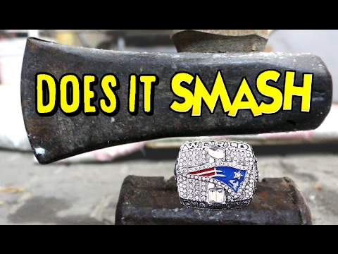 REAL 2017 SUPER BOWL RING SMASH TEST!!