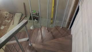 Обзор выполненной работы. Лестница квадро с подвесом на больцах.