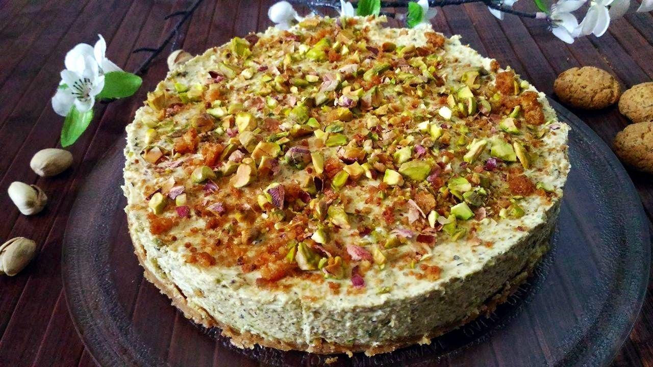 Pistachio Cheesecake Torta Fredda Al Pistacchio Youtube