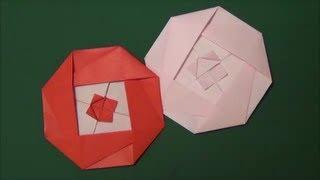 「ツバキ」折り紙