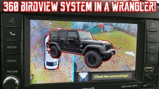 360 Degree bird View Camera system with DVR install and test drive in a Rubicon Wrangler