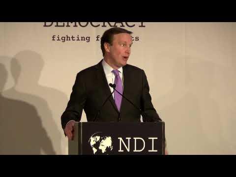 Senator Murphy Gives Keynote Remarks at the 2017 NDI Democracy Award Dinner