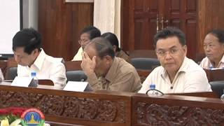 Lao News On Lntv-the Na Standing Committee And The Government Cabinet Met. 18/6/2013