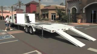 MethBuster Mobile Trailer Lift Auto Car Vehicle Maintenance Inspection Service Work Platform