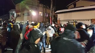 2017年2月10日 刈和野の大綱引き 上町側の様子