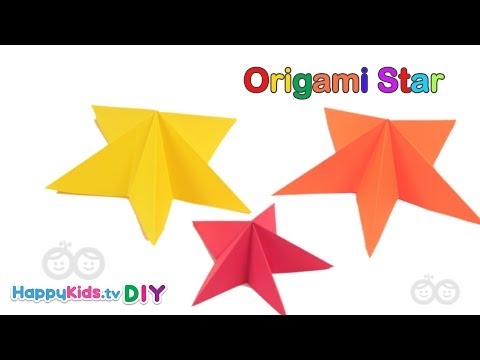 Origami Star | Kid's Crafts and Activities | Happykids DIY