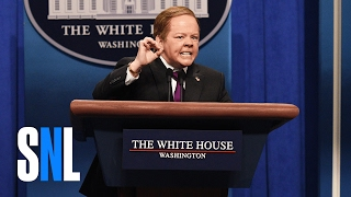 Sean Spicer Press Conference Cold Open - SNL(Sean Spicer (Melissa McCarthy) and Jeff Sessions (Kate McKinnon) take questions from the press (Bobby Moynihan, Mikey Day, Vanessa Bayer, Sasheer ..., 2017-02-12T08:17:17.000Z)