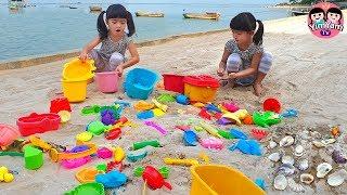 หนูยิ้มหนูแย้ม   เล่นทรายเก็บเปลือกหอย เที่ยวชลบุรี บัลโคนีซีไซด์ศรีราชา