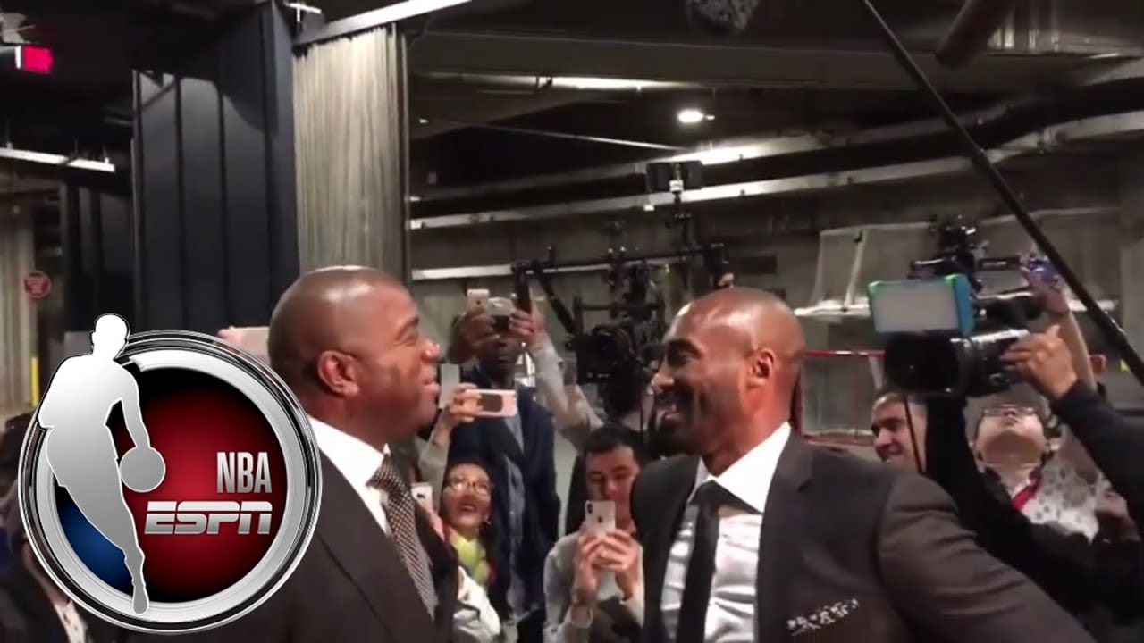 6e92b89b774 Kobe Bryant and family arrive for Lakers jersey retirement ceremony | ESPN