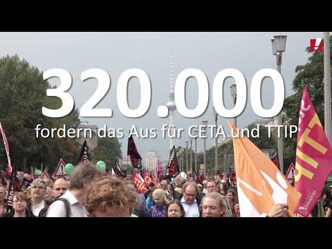 320.000 gegen TTIP & CETA auf der Straße