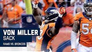 Von Miller Blows Past Rams O-Line for the Sack! | Rams vs. Broncos (Preseason) | NFL