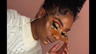 Colorful Gold Glitter Cut Crease Makeup Look | MakeupTiffanyJ
