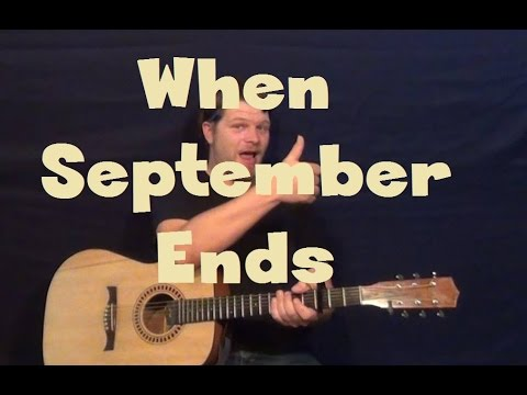 Wake Me Up When September Ends (Green Day) Easy Guitar Lesson How to ...