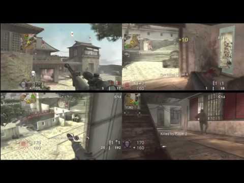 COD: World at War Gameplay [splitscreen 4 player] [Round 1 ...