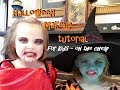 Halloween Makeup Tutorial for Kids!  Vampire and Witch! Cheap and Easy!