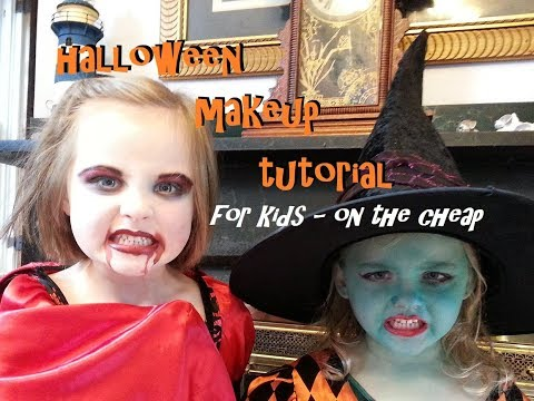 Halloween Makeup Tutorial for Kids-Vampire and Witch