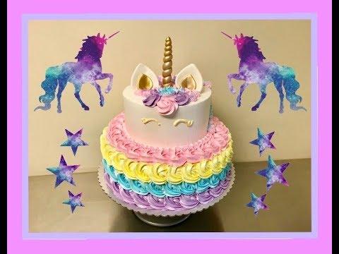 Pastel De Unicornio Relleno Y Decoracion Facil