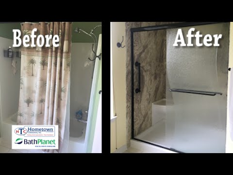 Replacing Bath With Walk In Shower tub and shower combination replaced with a walk-in shower - mary