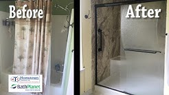 Tub and shower combination replaced with a walk-in shower - Mary Esther, Florida