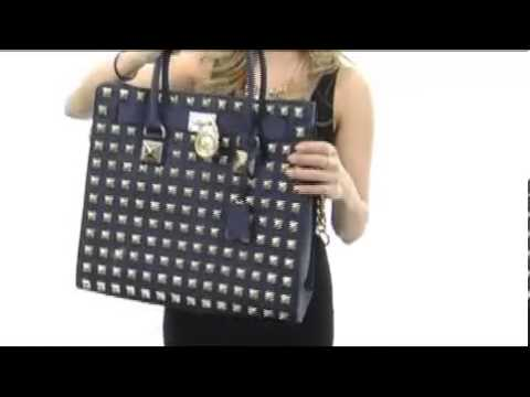MICHAEL Michael Kors Hamilton Studded Large North South Tote SKU  8126371 -  YouTube ed4f530f08