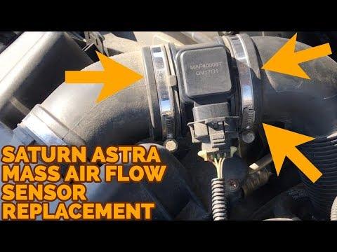 Saturn Astra Mass Air Flow -  MAF - Sensor Replacement P0068 - How To