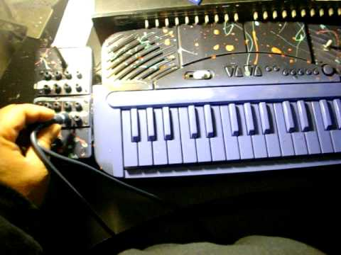 Circuit bent casio ML-2 MAGIC LIGHT Painted WITH PATCHBAY ...