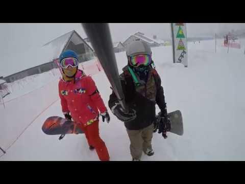 安比高原2018_單板滑雪 大風雪篇 - YouTube