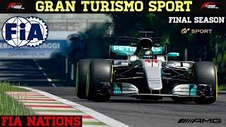 GT Sport - FIA Nations Round 7 - Crash at Grid Start