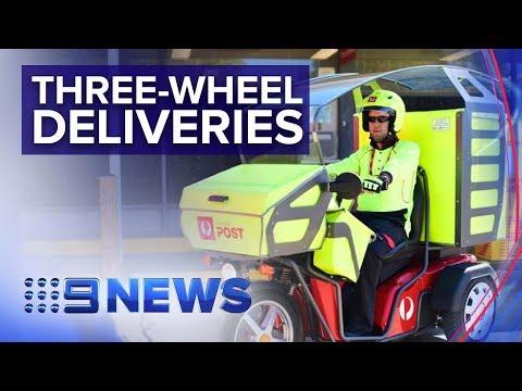 Australia Post Trials New Generation Of Postie Bikes As Parcel Numbers Boom | Nine News Australia