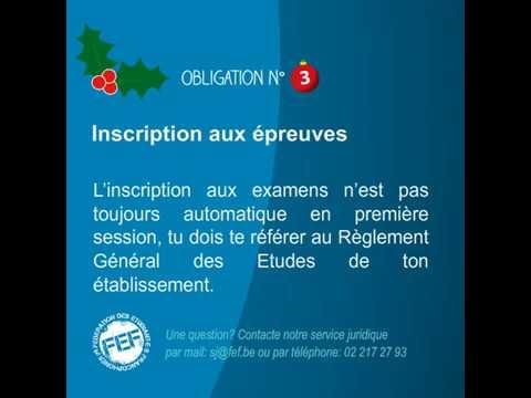 Tes droits et obligations en examens pour la session de Noël - 3