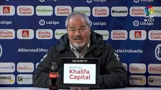 Rueda de prensa de Antonio Iriondo tras el CF Rayo vs Málaga CF (0-1)