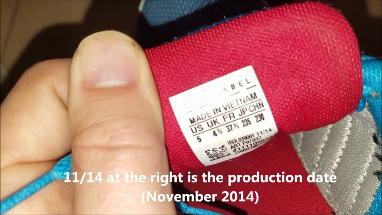 How to spot original Adidas sneakers production date