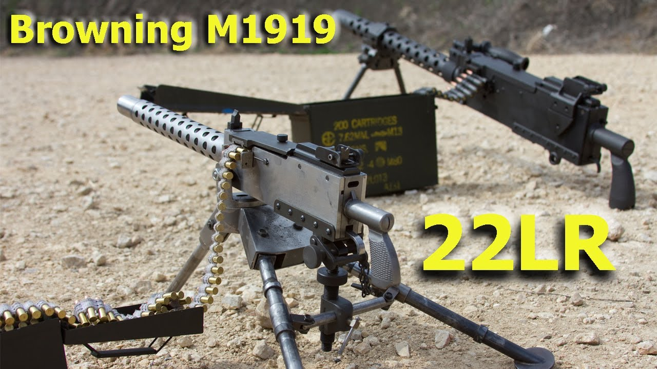 browning 1919 beltfed 22lr machine gun for sale