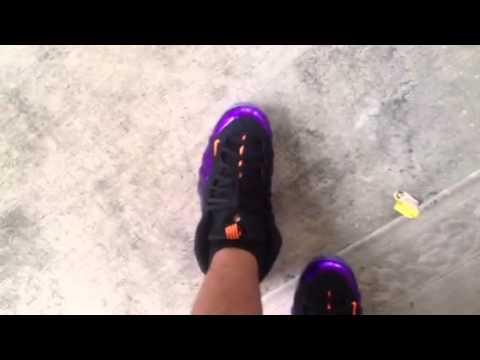 71073046ad0 Nike Foamposite Phoenix Suns On-feet - YouTube