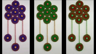 DIY - HOW TO MAKE WALL HANGING TORAN FROM WASTE BANGLES || BEAUTIFUL WALL TORAN  || WALL TORAN DIY