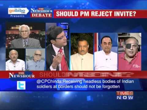 The Newshour Debate: Should PM Manmohan Singh reject Nawaz Sharif's invite? (Full Debate)