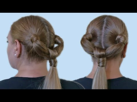 Подиумная Прическа на Длинные Волосы из Хвоста Своими Руками Видео Учебник  2013