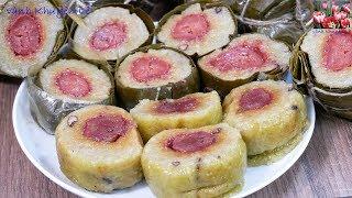 BÁNH TÉT CHUỐI - Cách làm Bánh Tét cấp tốc - Cách gói Bánh Tét - Món ăn Ngày Tết by Vanh Khuyen