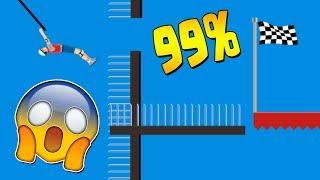99% IMPOSIBLE!? HAPPY WHEELS: Episodio 422