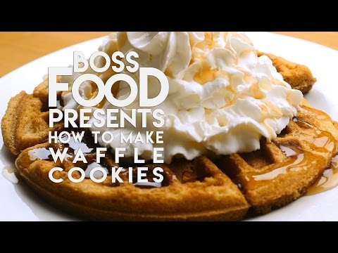 Make Perfectly Crisp Outside and Soft Inside Cookies in Minutes in a Waffle Iron