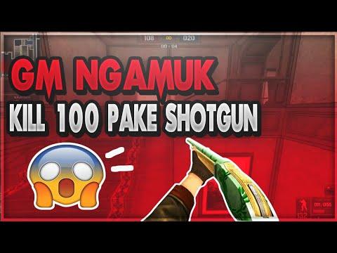 GM Ngamuk Pake Shotgun KILL 100 Orang Langsung!!    Point Blank Offline 2018