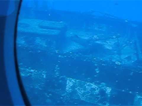 Sunken Ship under the Ocean in Maui