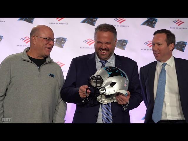 Carolina Panthers introduce Matt Rhule as their Head Coach
