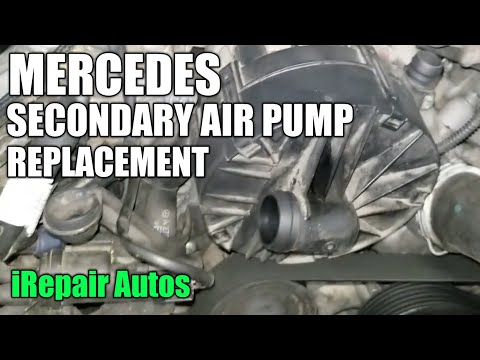Mercedes Secondary Air Pump Replacement p0410 DIY