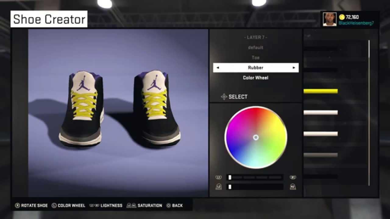 nba 2k15 shoe creator jordan 3 n w a straight outta compton custom