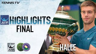 Highlights: Coric Stuns Federer To Lift Halle Title