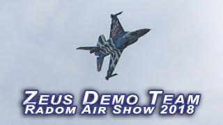 Radom 2018 - F-16 Zeus Demo Team