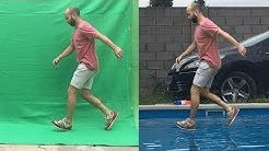 Green screen Chroma key tutorial in 4 minutes - walking on water
