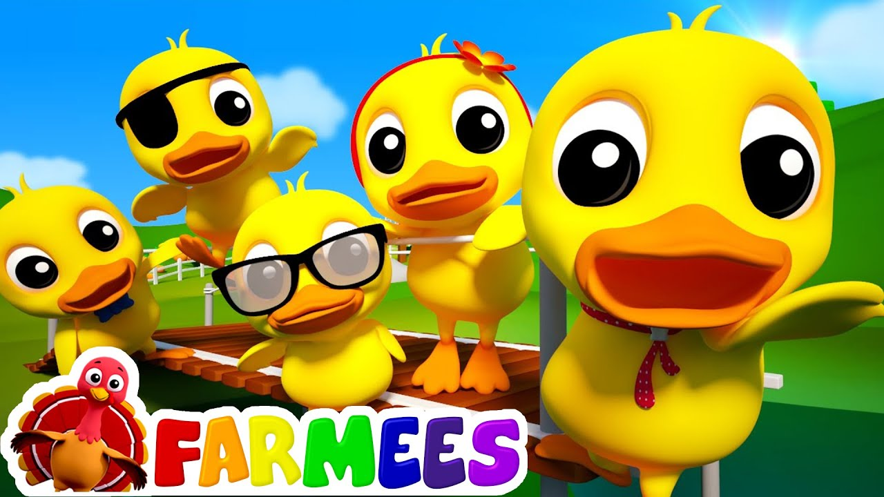 5 Little Ducks 3d Nursery Rhymes For Kids Baby Songs